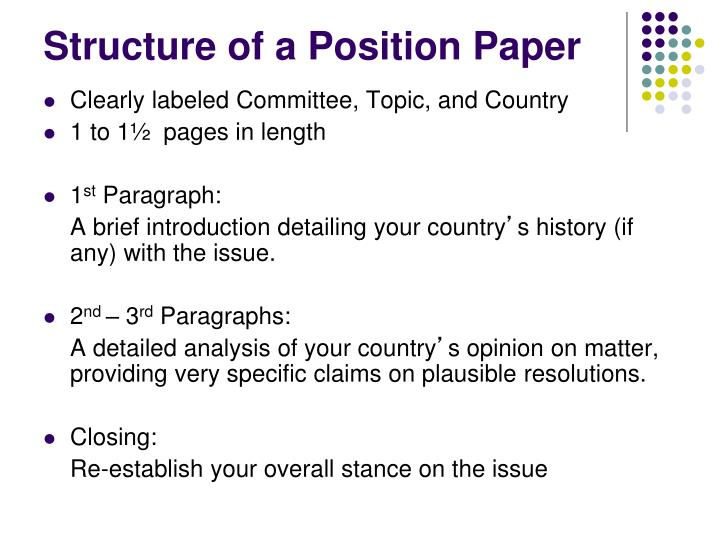 position paper structure