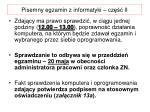 pisemny egzamin z informatyki cz ii