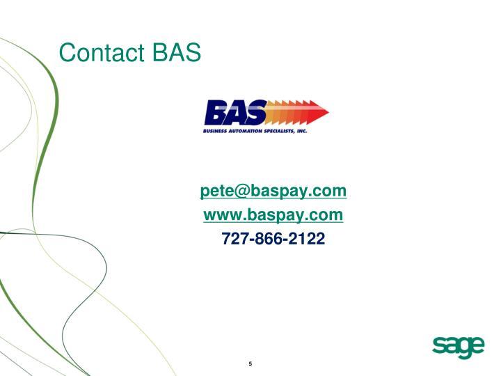 Contact BAS