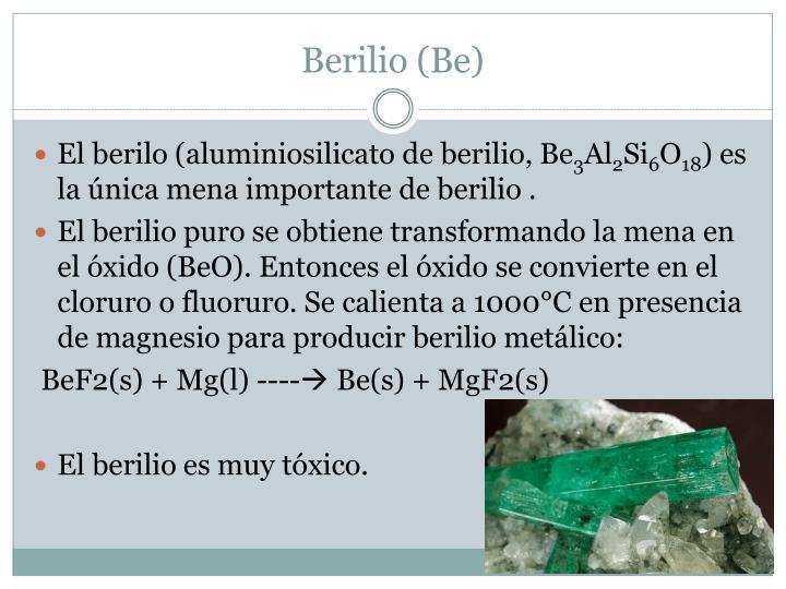 Berilio (Be)