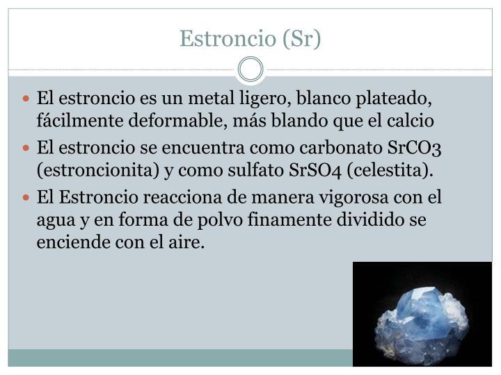 Estroncio (Sr)
