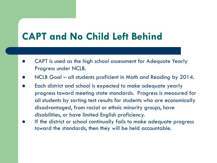 CAPT and No Child Left Behind
