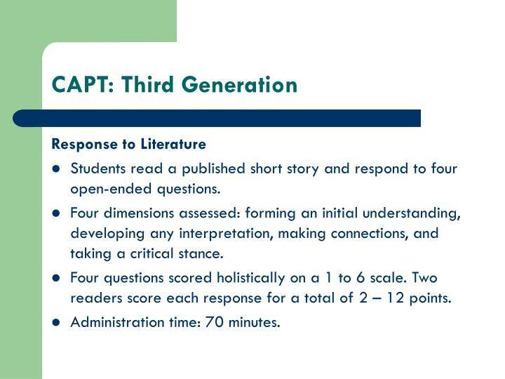 CAPT: Third Generation