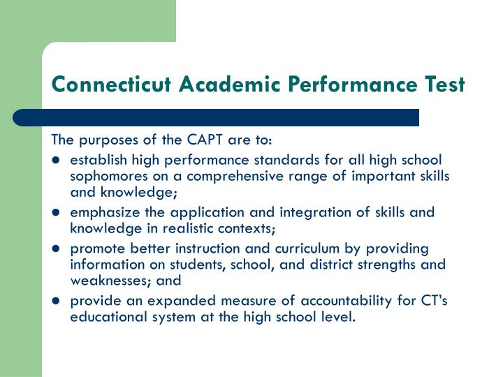 Connecticut academic performance test1