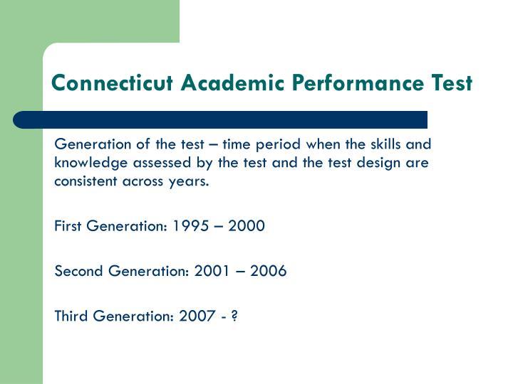 Connecticut academic performance test2