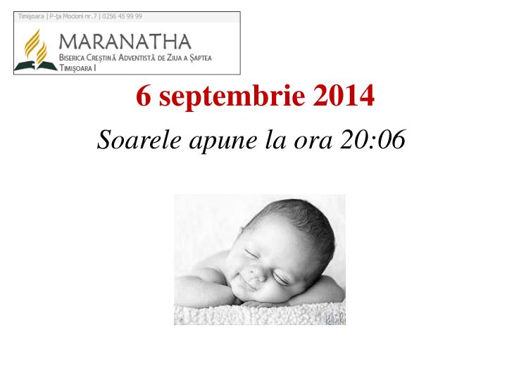 6 septembrie