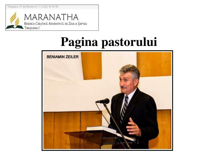 Pagina pastor ului