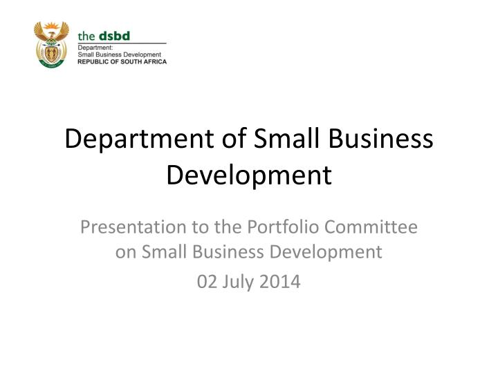 department of small business development n.