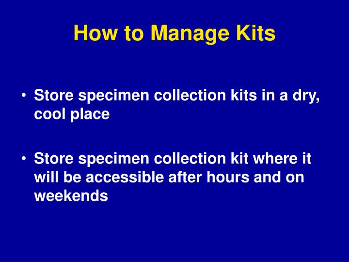 How to Manage Kits