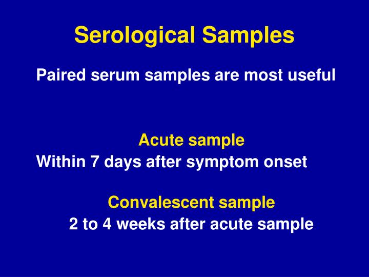 Serological Samples