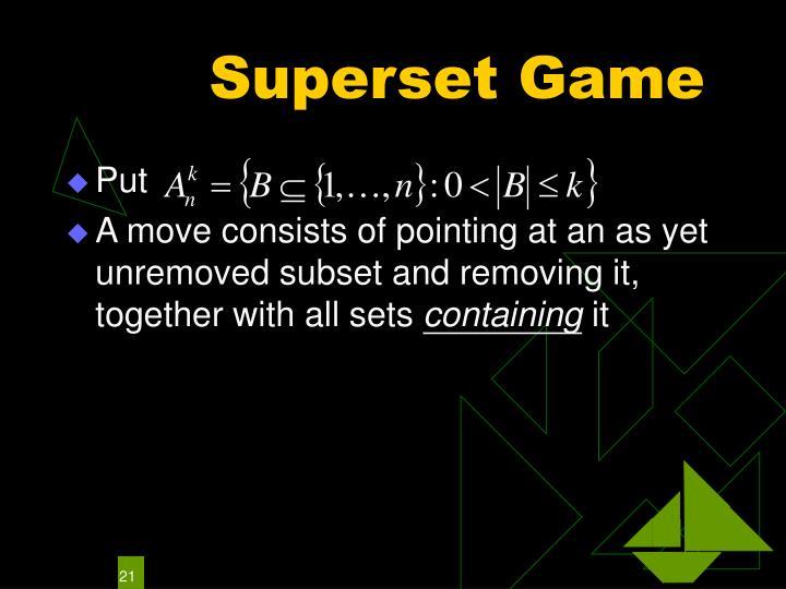 Superset Game