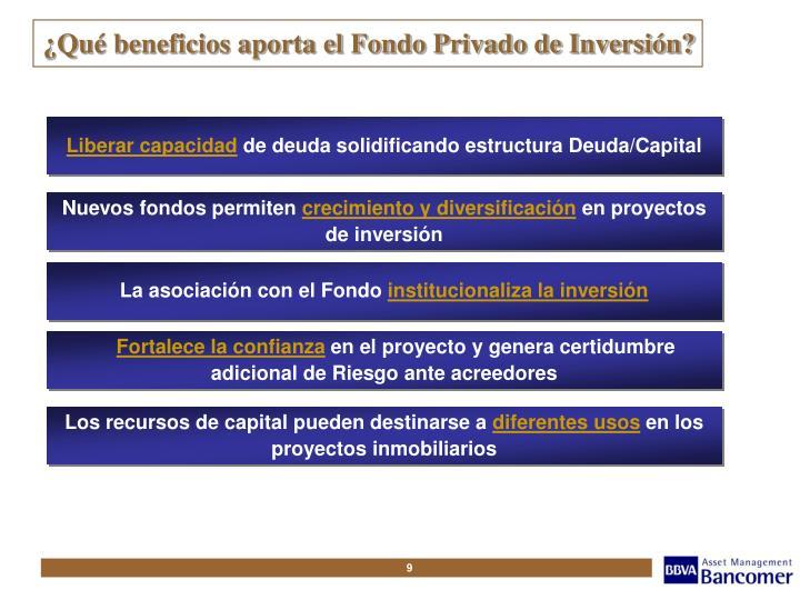 ¿Qué beneficios aporta el Fondo Privado de Inversión?