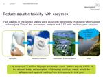 reduce aquatic toxicity with enzymes1