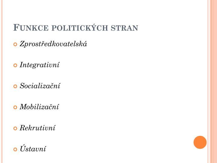Funkce politických stran