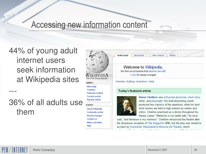 Accessing new information content