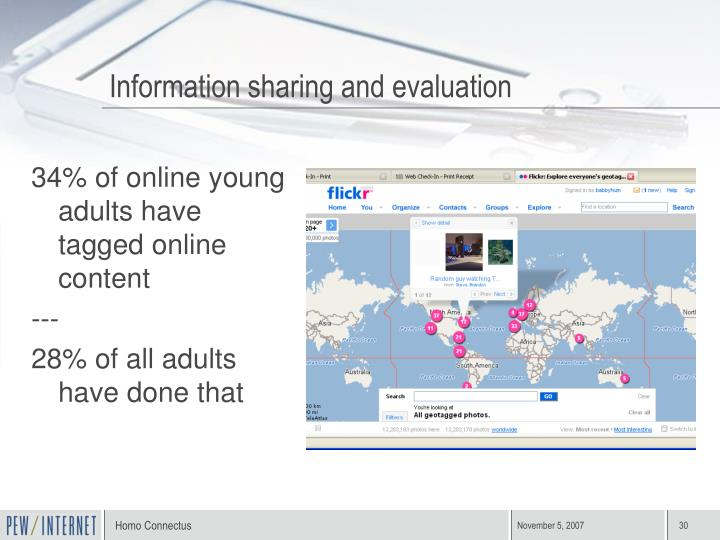 Information sharing and evaluation