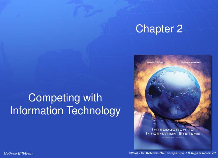 Competing with information technology