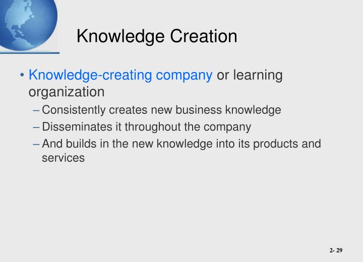 Knowledge Creation