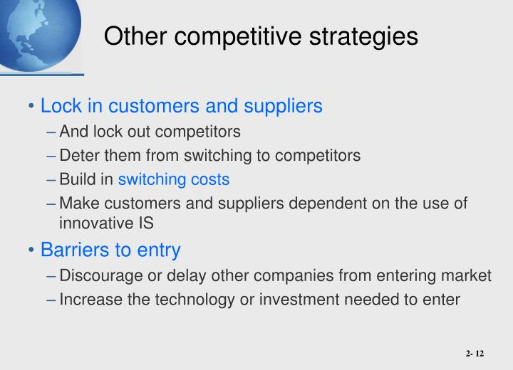 Other competitive strategies