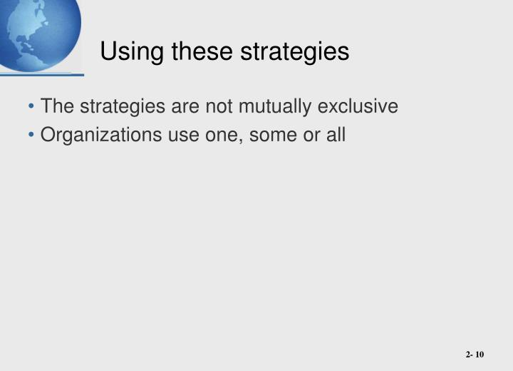Using these strategies