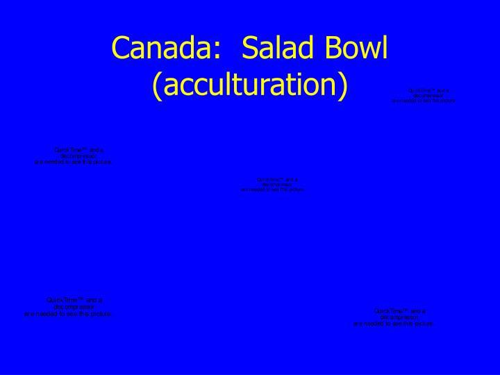 Canada:  Salad Bowl (acculturation)