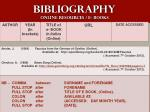 bibliography online resources e books