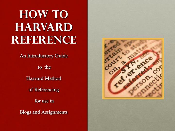 how to harvard reference n.