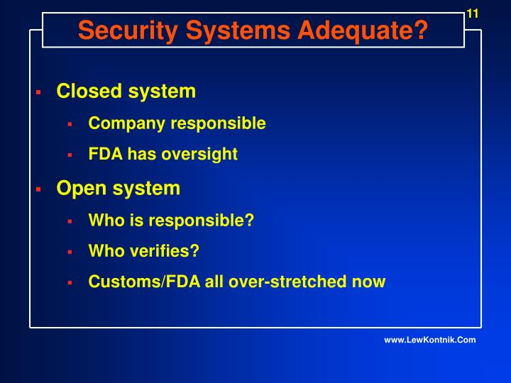 Security Systems Adequate?