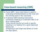 case based reasoning cbr1