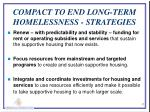 compact to end long term homelessness strategies
