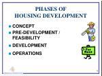 phases of housing development