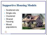 supportive housing models