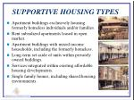 supportive housing types