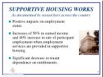 supportive housing works as documented by researchers across the country1