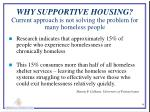 why supportive housing current approach is not solving the problem for many homeless people