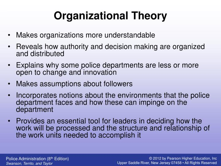 police administration structures processes and behavior