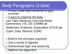 body paragraphs 3 total
