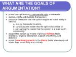 what are the goals of argumentation