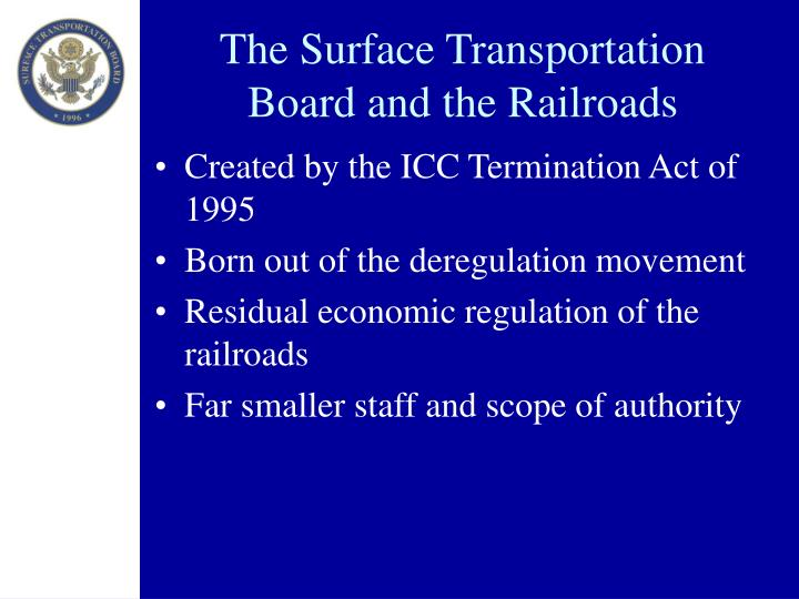 The surface transportation board and the railroads