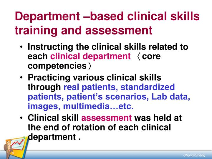 Department –based clinical skills