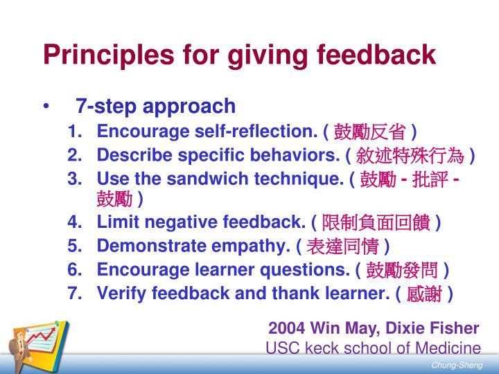 Principles for giving feedback