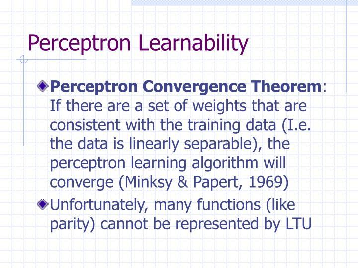 Perceptron Learnability