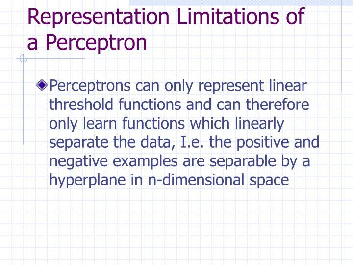 Representation Limitations of a Perceptron