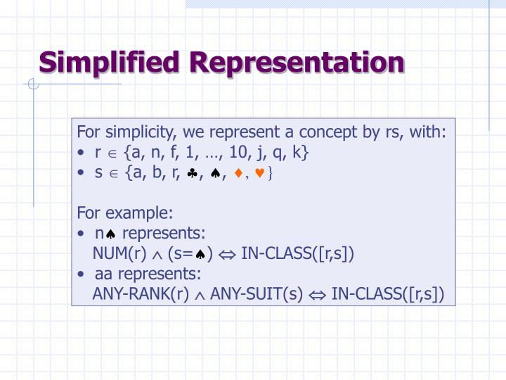 Simplified Representation