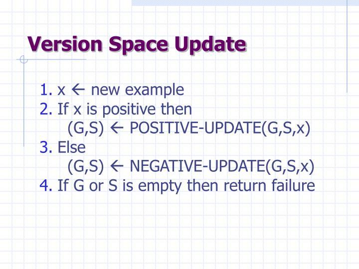 Version Space Update