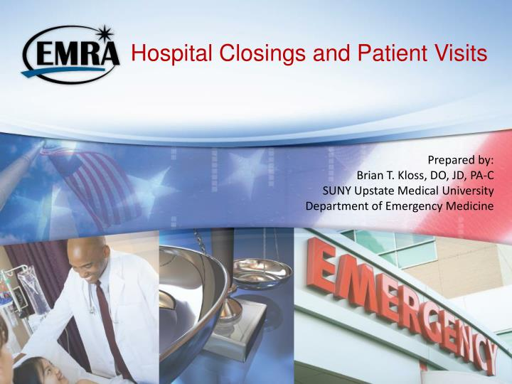 hospital closings and patient visits n.