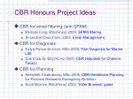 cbr honours project ideas
