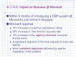impact on business @ microsoft