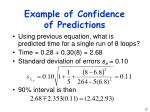 example of confidence of predictions