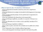compatibilit du projet avec les politiques r gionales 1